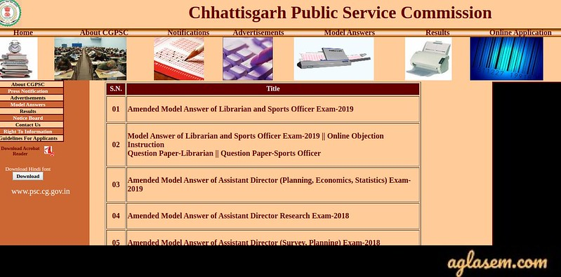 Chhattisgarh Civil Judge Answer Key 2020
