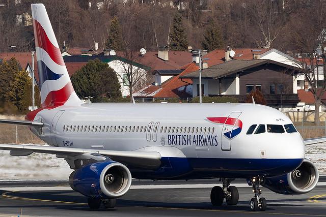 G-EUYH British Airways A320-200 Innsbruck Airport
