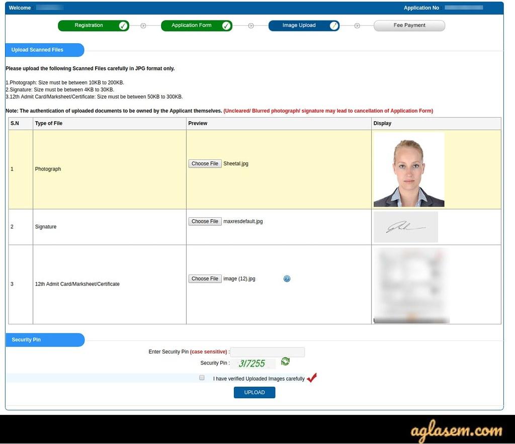 JEE Main 2020 Application Form Image