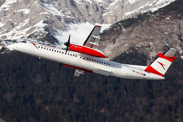 OE-LGL Austrian Airlines Dash-8 Q400 Innsbruck Airport
