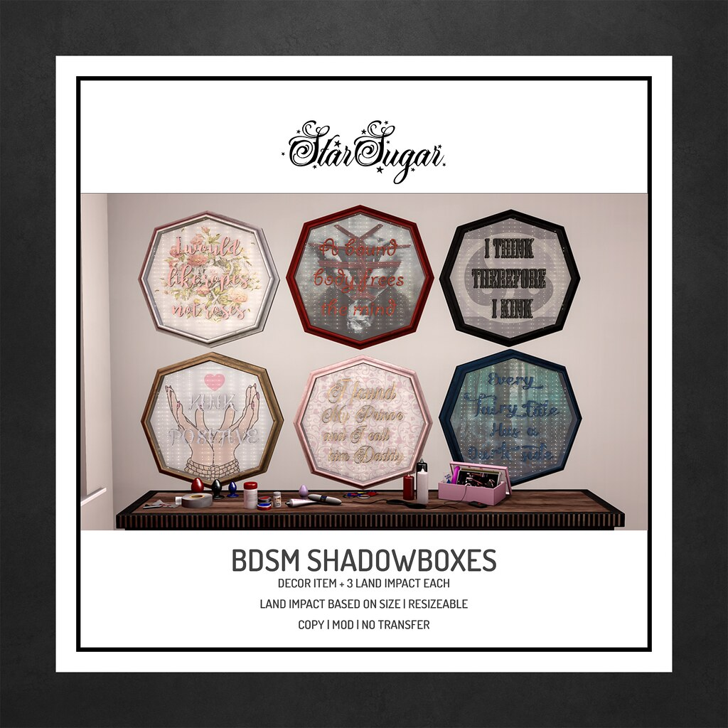 bdsm shadowboxes
