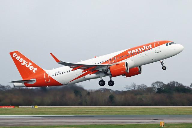 G-UZHZ Airbus A320-251N easyJet Airline Company MAN 10FEB20