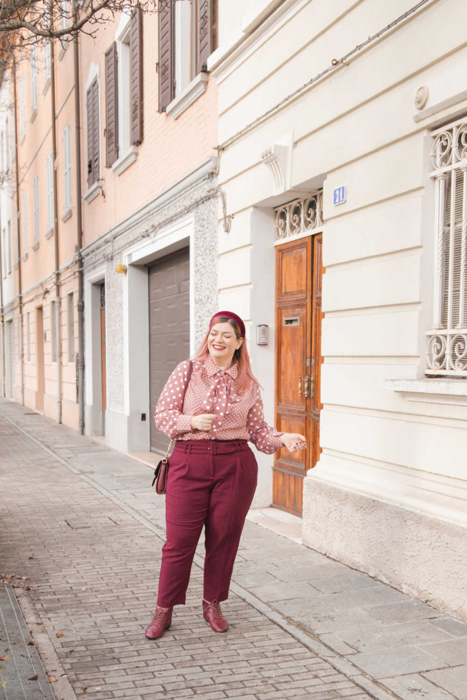 Oufit rosa e borgogna (9)