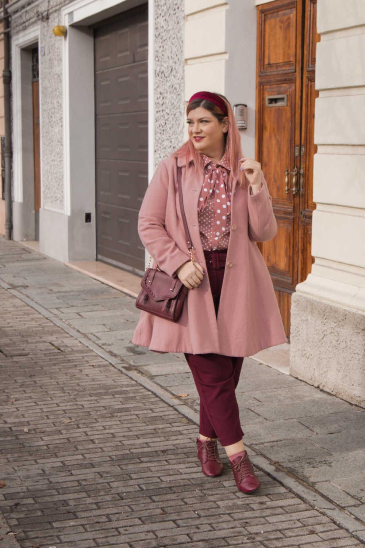 Oufit rosa e borgogna (4)