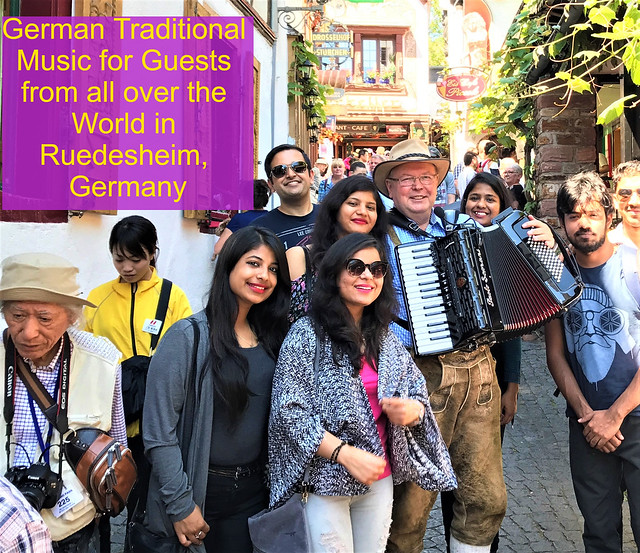 World Famous DROSSELGASSE in Ruedesheim on the River Rhine, Germany