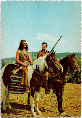 Dan Martin and Anthony Steffen in Der Letzte Mohikaner (1965)