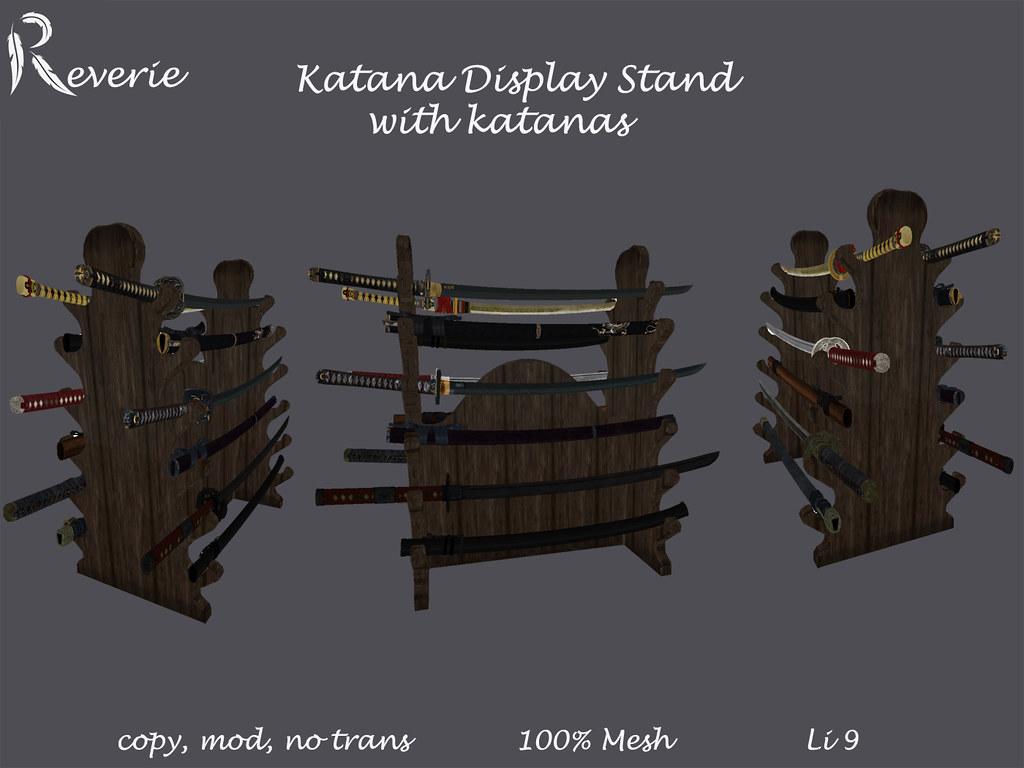 Katana Stand with display Models