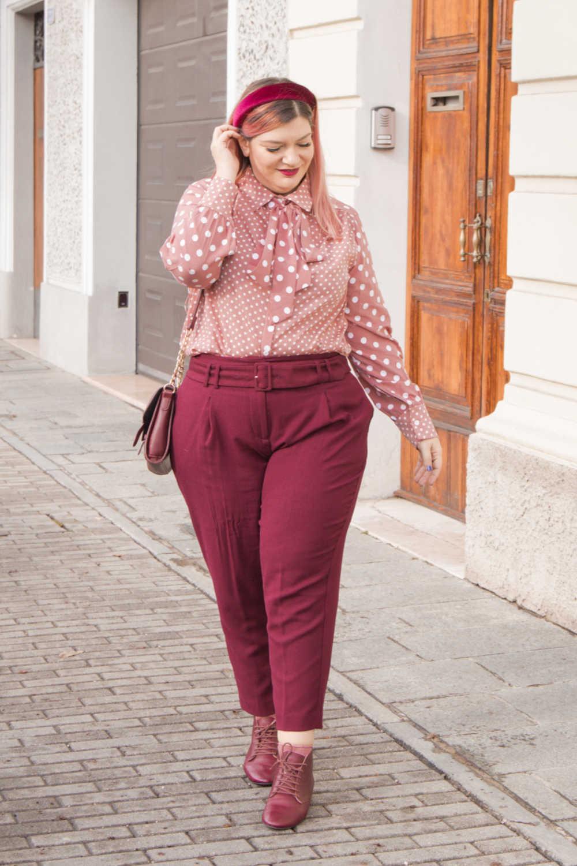 Oufit rosa e borgogna (11)