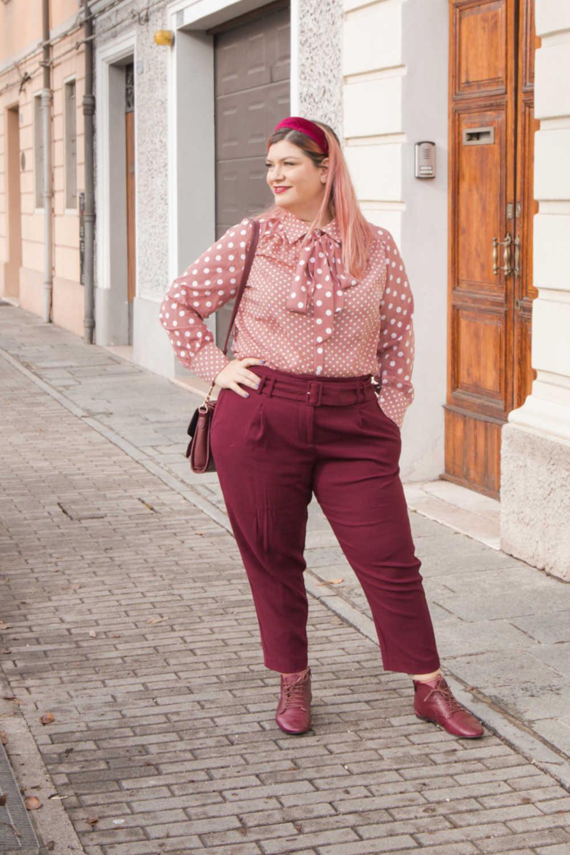 Oufit rosa e borgogna (10)