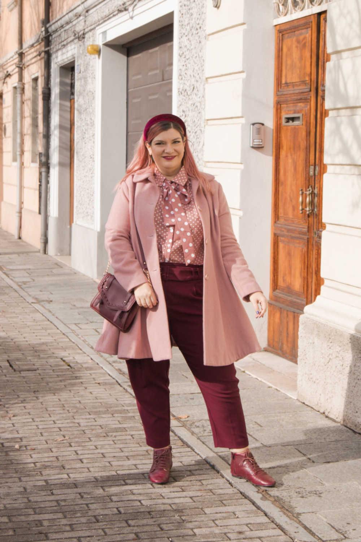 Oufit rosa e borgogna (6)