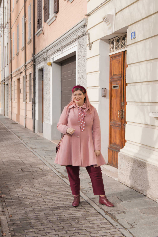 Oufit rosa e borgogna (5)