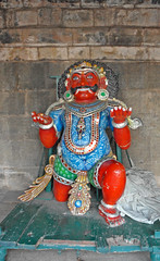 Statue de prince dans le temple de Brihadishwara (Tanjore, Inde)