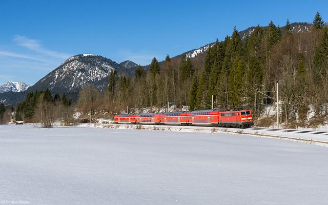 DB Regio 111 044 | Klais, 08.02.2020 | 09:57