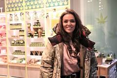 Laura Ponticorvo bij de Body Shop Amsterdam
