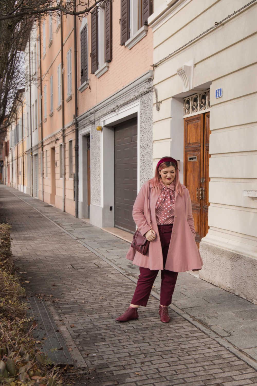 Oufit rosa e borgogna (3)