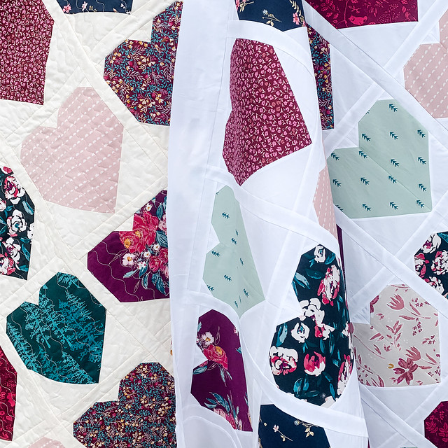 Heart quilt and top