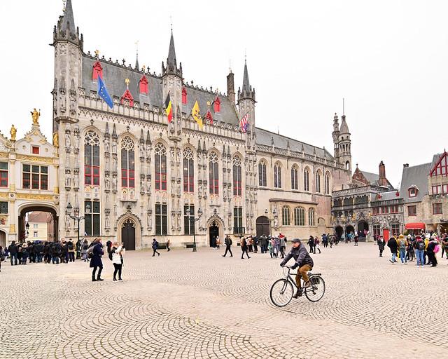 Plaza del Burg en Brujas