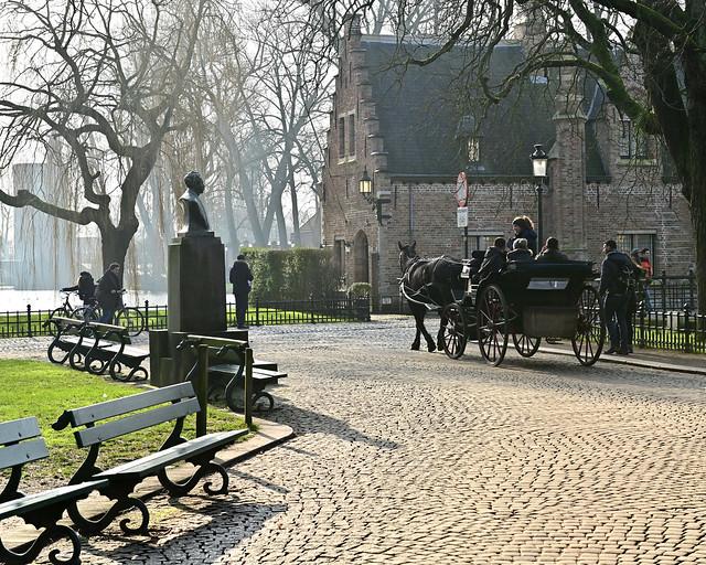Alrededores del parque Minnewater, de los lugares imprescindibles que ver en Brujas