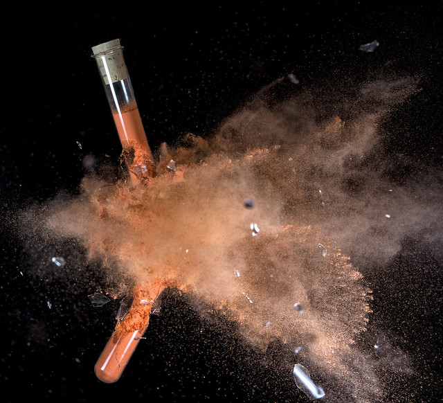 shot that test tube (filled with holi powder) / take2