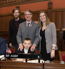 Rep. Ackert was joined by his daughter Taylor, son Travis and grandson Jameson on opening day of the 2020 legislative session.