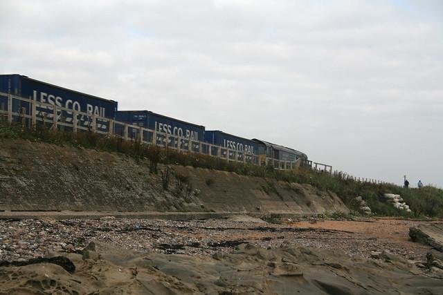 Train along the coast near Carnoustie