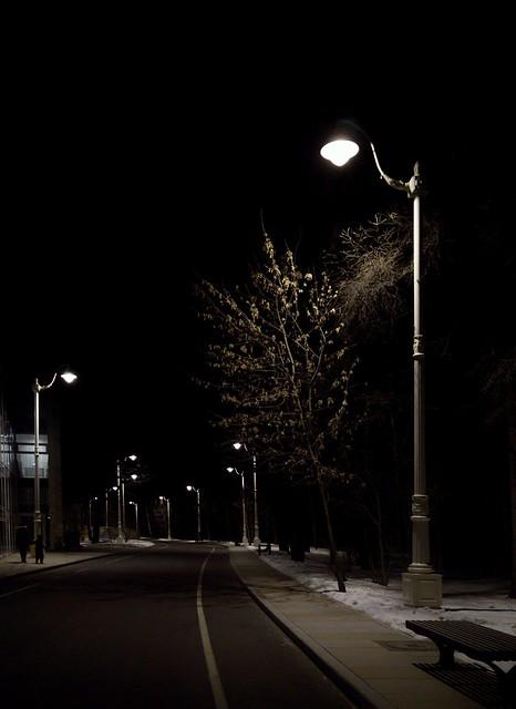 Вечерняя дорога на ВДНХ