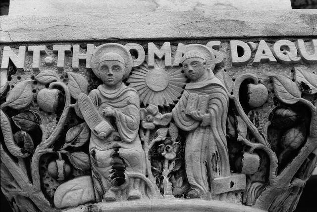 Religious Stone Relief - Saint-Thomas D'Aquin