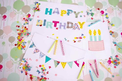 Self Sewn Birthday Cards