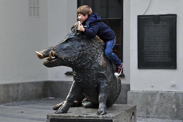 Boy on a Boar