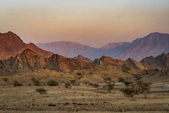 The mountains outside of Muscat, Oman.