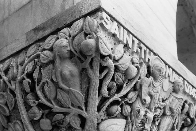 Religious Stone Relief - The Original Sin