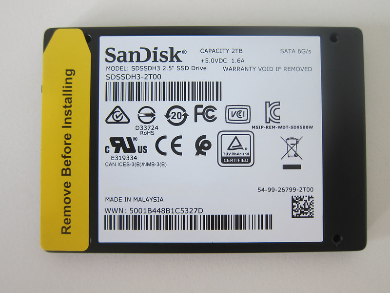 SanDisk Ultra 3D 2TB SSD - Back