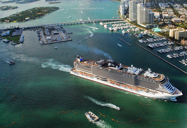 MSC Cruise Ship Departing Miami