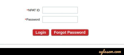 NMIMS NPAT 2020 Admit Card Login
