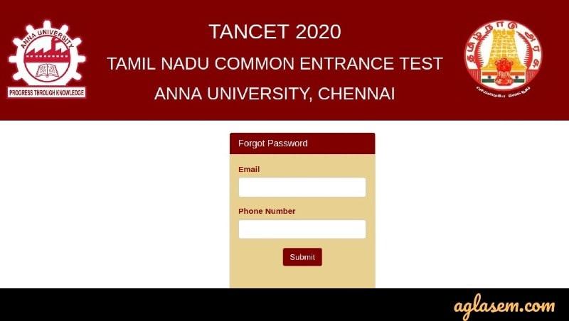 TANCET 2020 retrieve password