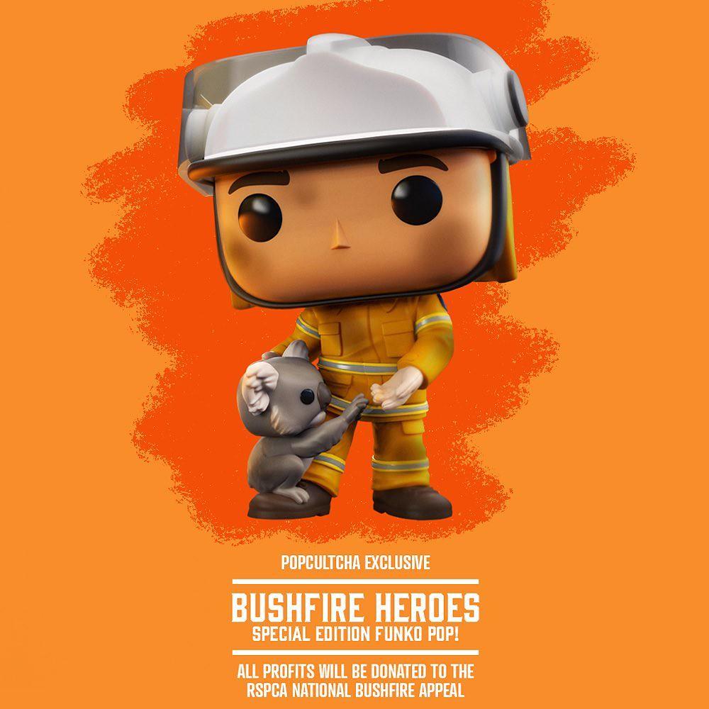 買玩具救無尾熊!Funko x Popcultcha 推出公益「叢林大火英雄」消防員人偶 販售收益將投入澳洲動物救援(Bushfire Heroes Firefighter with Koala Pop! Vinyl Figure)