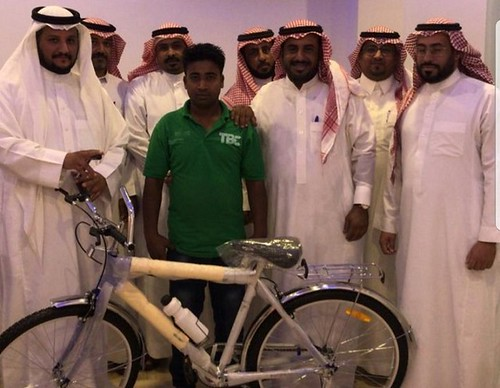 5521 Saudi school awards a Bangladeshi cleaner a bicycle 0 | by Life in Saudi Arabia