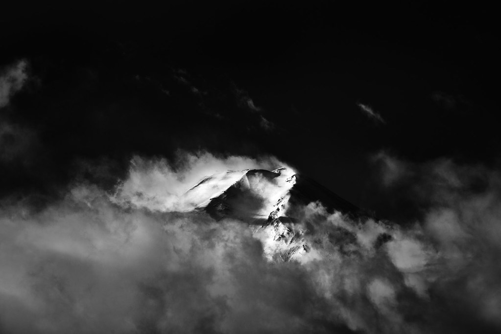 Mt. Fuji in B&W