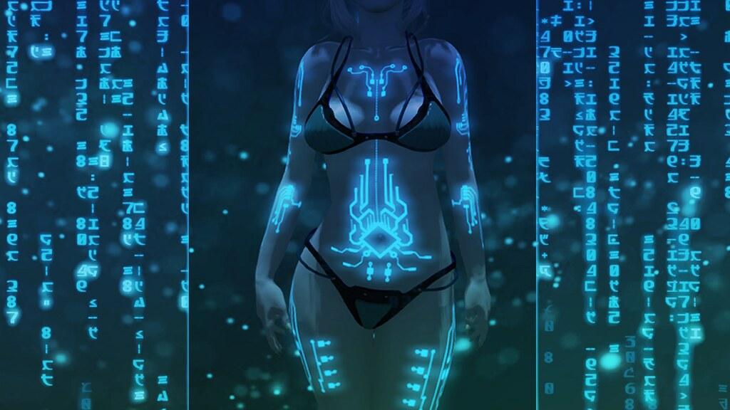 Glowing Tattoo – Cyberpunk (Maitreya)