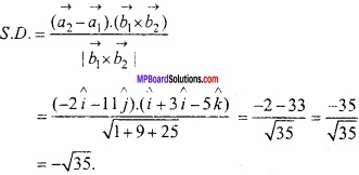 MP Board Class 12th Maths Important Questions Chapter 11 त्रि-विमीय ज्यामिति img 37