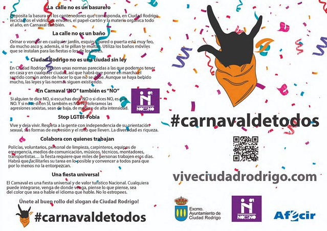 Anverso del díptico #carnavaldetodos.