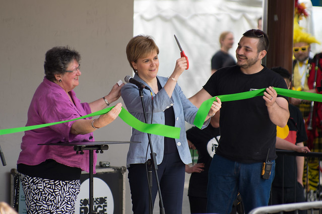 Nicola Sturgeon at the opening of Queen's Park Arena