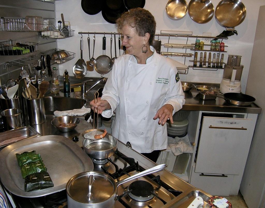 Yara Roberts in the kitchen