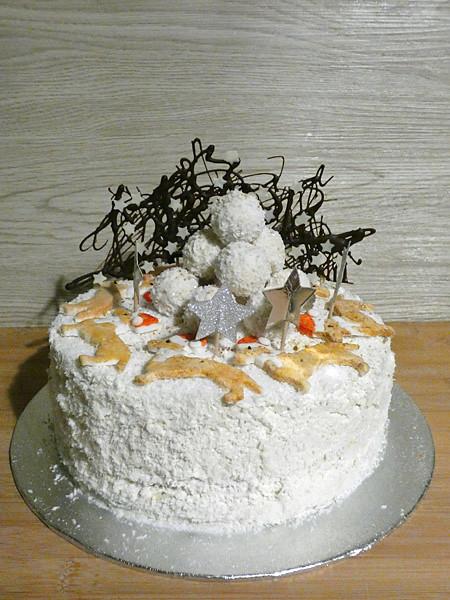 gâteau de noël coco citron