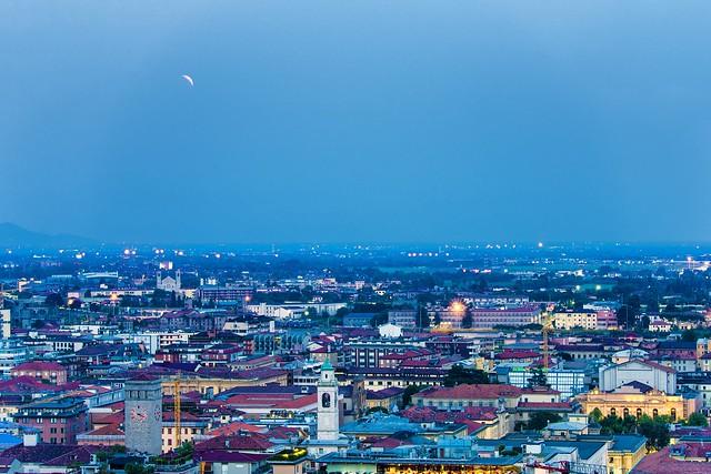 Partial Lunar Eclipse over Bergamo