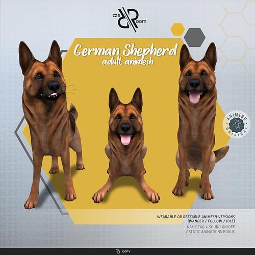 [Rezz Room] German Shepherd Adult Animesh (Companion)
