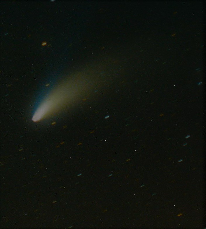 The Hale Bopp comet, 1,000 times brighter than Halley's comet