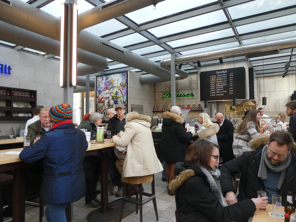 Lunch in Dauser, Carlsplatz market hall, Dusseldorf