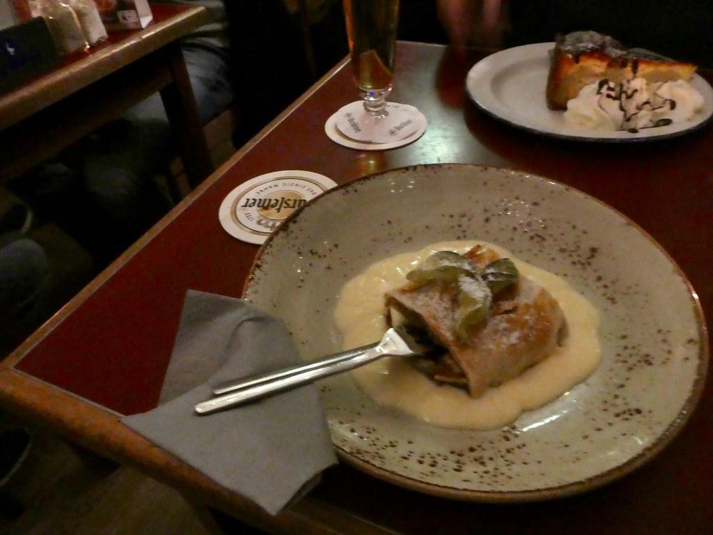 Our desserts at The Schwan Restaurant, Dusseldorf