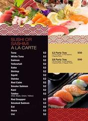 Sushi Or Sashimi - A La Carte